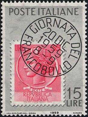 1ª Giornata del francobollo - L. 15