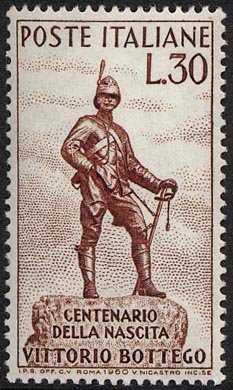 Centenario della nascita di Vittorio Bottego - statua dell'esploratore