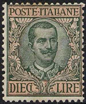 1910 - Francobollo del 1901 modificato