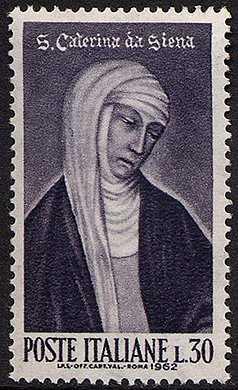 5° Centenario della canonizzazione di Santa Caterina da Siena - ritratto di Vanni