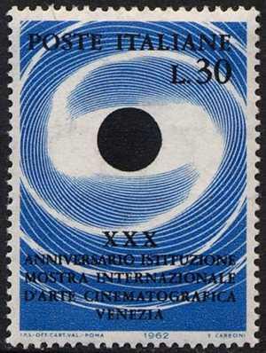 30° Anniversario della Mostra internazionale d'Arte Cinematografica di Venezia - L. 30
