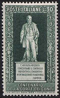 Centenario dell'Ordinamento della Corte dei Conti - monumento a Cavour