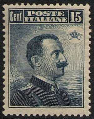 1911 - Effige di Vittorio Emanuele III - volta a destra