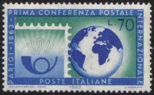 Centenario della 1ª Conferenza Postale Internazionale - Parigi - L. 70