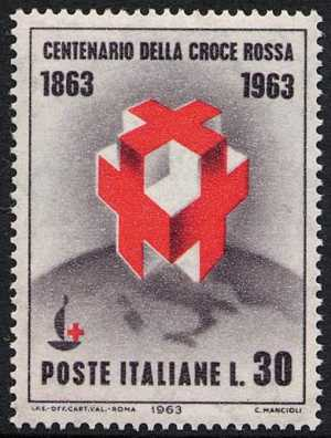 Centenario della fondazione della Croce Rossa - L. 30
