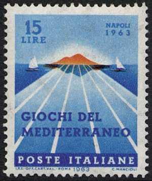 Giochi del Mediterraneo - piscina olimpica e Vesuvio
