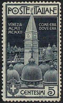 1912 - Ricostruzione del campanile della Basilica di San Marco a Venezia