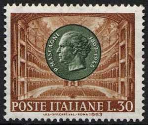 Centenario della nascita di Pietro Mascagni - L. 30
