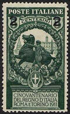 1913 - Francobolli del 1911 sovrastampati
