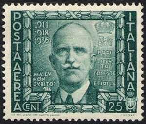 Posta aerea - Proclamazione dell'Impero - Vittorio Emanuele III