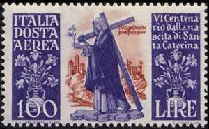 Posta aerea - 6º Centenario della nascita di Santa Caterina da Siena