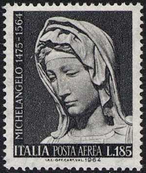 Posta aerea - 4° Centenario della morte di Michelangelo Buonarroti
