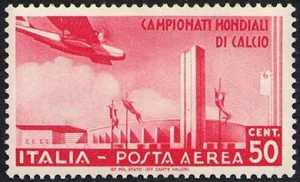 Posta Aerea - II° Campionato mondiale di calcio - Stadio di Torino