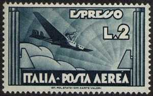 Espresso Aereo - tipo del 1933 con valore diverso
