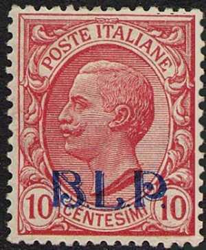 1920 - B.L.P. - Regno - Francobolli del 1901 / 17 sovrastampati «B.L.P.» in litografia