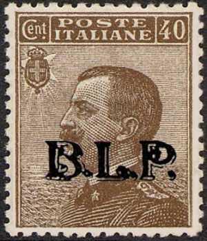 1923 - B.L.P. - Regno - Effige di Vittorio Emanuele III volta a sinistra - francobolli del Regno  con soprastampa - non emessi