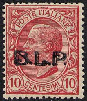1922 - B.L.P. - Regno - Francobolli del 1901 / 19 con soprastampa modificata