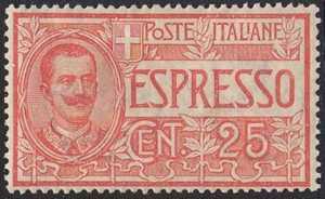 1903 - Espresso - Effige di Vittorio Emanuele III - tipo Floreale