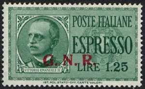 1943 - G.N.R. - Espressi - tipi del 1932 soprastampati G.N.R.