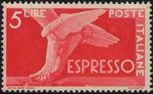 1945 - Repubblica - Espressi - Serie «Democratica»