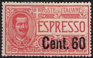 1922 - Espresso tipo del 1920 Floreale - soprastampato