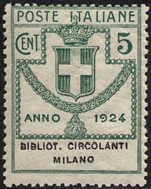 1924 - Enti Semistatali - Regno - Biblioteche Circolanti Milano
