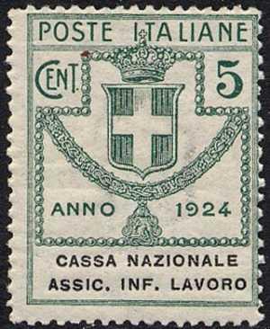 1924 - Enti Semistatali - Regno - Cassa Nazionale Assicurazione Infortuni sul Lavoro