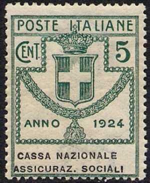 1924 - Enti Semistatali - Regno - Cassa Nazionale Assicurazioni Sociali