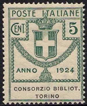 1924 - Enti Semistatali - Regno - Consorzio Biblioteche Torino