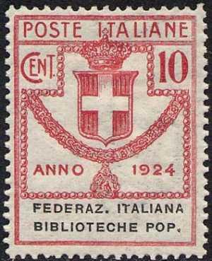 1924 - Enti Semistatali - Regno - Federazione Italiana Biblioteche Popolari