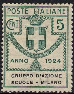 1924 - Enti Semistatali - Regno - Gruppo D'Azione Scuole Milano