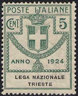 1924 - Enti Semistatali - Regno - Lega Nazionale Trieste