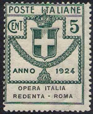 1924 - Enti Semistatali - Regno - Opera Italia Redenta - Roma