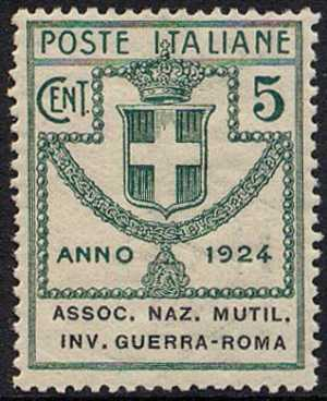 1924 - Enti Semistatali - Regno - Associazione Nazionale Mutilati e Invalidi di Guerra