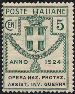 1924 - Enti Semistatali - Regno - Opera Nazionale Protezione e Assistenza Invalidi di Guerra