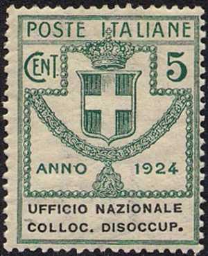 1924 - Enti Semistatali - Regno - Ufficio Nazionale Collocamento Disoccupati