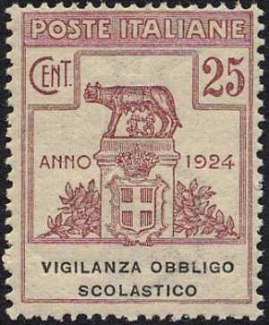1924 - Enti Semistatali - Regno - Vigilanza Obbligo Scolastico