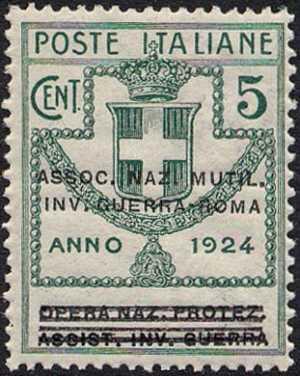 1924 - Enti Semistatali - Regno - Associazione Nazionale Mutilati e Invalidi di Guerra - Roma