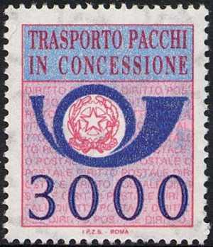 1984 - Pacchi in Concessione - Repubblica -  nuovo tipo - sezione unica