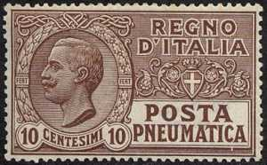 1913-23 - Posta Pneumatica - Regno - Effige di Vittorio Emanuele III