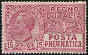 1927-28  - Posta Pneumatica - Regno - francobolli del 1913  - nuovi valori