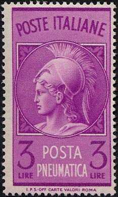 1947  - Posta Pneumatica - Repubblica-  Testa di Minerva
