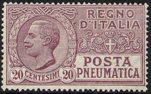 1925 - Posta Pneumatica - Regno - francobolli del 1913 - nuovi valori
