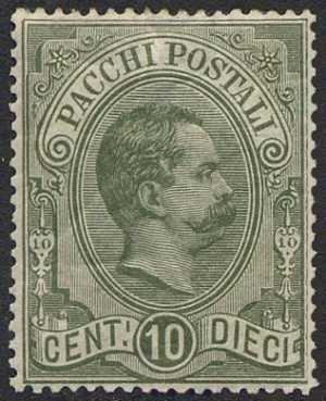1884 - Pacchi Postali  - Regno - Effige di Umberto I