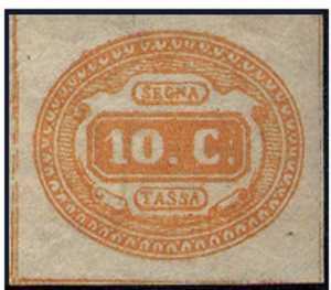 1863 - Segnatasse Regno - cifra in contorno ovale