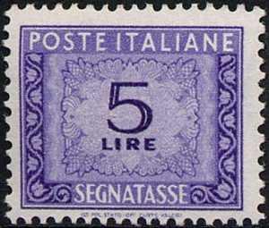 1955 / 1966 - Segnatasse  Repubblica - Cifra in ornato - filigrana stelle