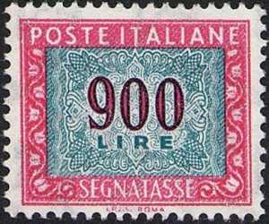 1984 - Segnatasse  Repubblica - Cifra in ornato - nuovo valore