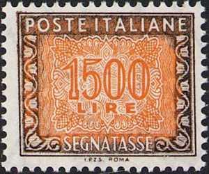1991 - Segnatasse  Repubblica - Cifra in ornato - nuovo valore