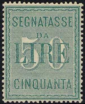 1884 - Segnatasse Regno - Nuovo tipo