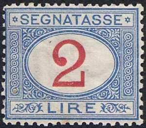 1903 - Segnatasse Regno - tipi del 1870  -  valori complementari